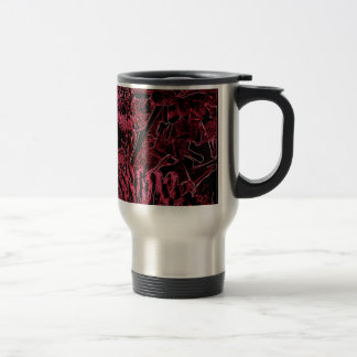 Red Sunflower with oval Border Mug