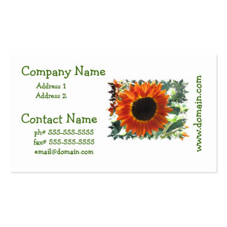 Red Sunflowers Business Cards