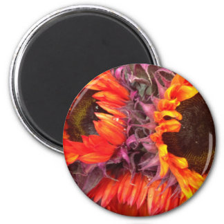 RED SUNFLOWERS MAGNET