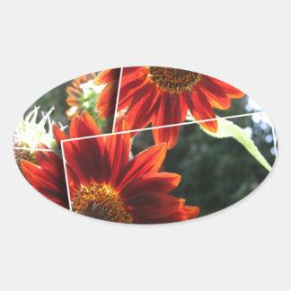 Red Sunflowers Sticker