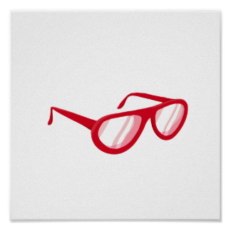 red sunglasses reflection.png poster