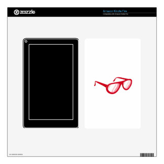 red sunglasses reflection.png kindle fire skin