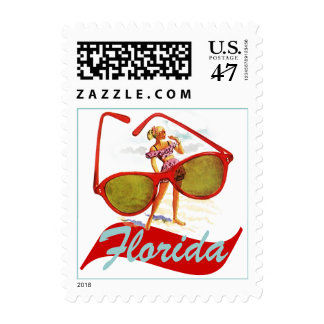 Red Sunglasses Sunshine State Florida Promo Stamps
