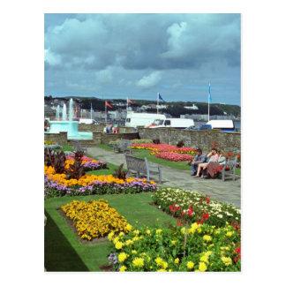 Red Sunken Gardens, Douglas Promenade, Isle of Man Postcard