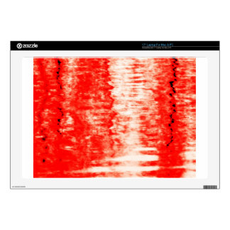 Red sunrise laptop decal
