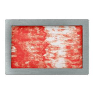 Red sunrise rectangular belt buckle