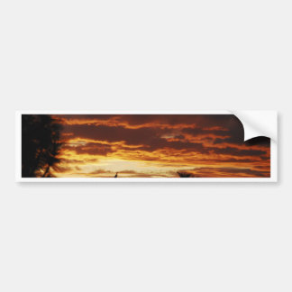 Red Sunset Bumper Sticker