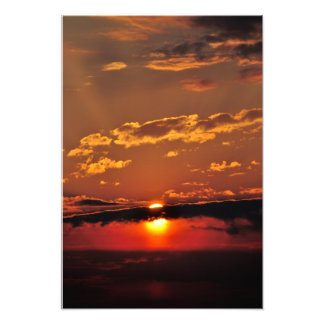 Red Sunset Colorful Photo