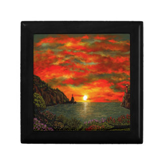 Red Sunset Gift Box