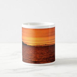 Red Sunset Basic White Mug