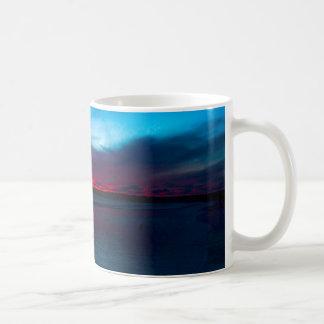 Red sunset classic white coffee mug