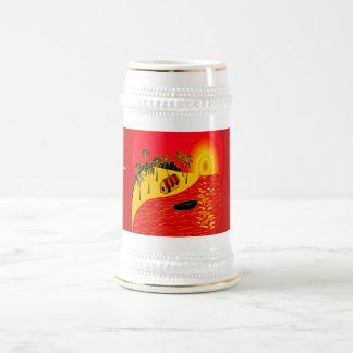 Red Sunset - 18 Oz Beer Stein