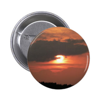 Red Sunset On Sky 2 Inch Round Button