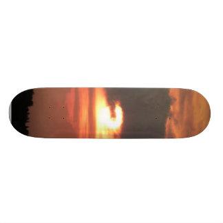Red Sunset On Sky Skateboards