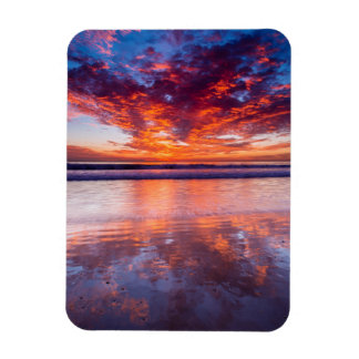 Red sunset over the sea, California Magnet