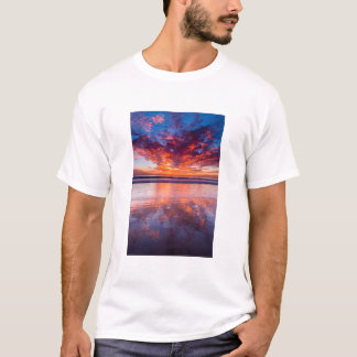 Red sunset over the sea, California T-Shirt