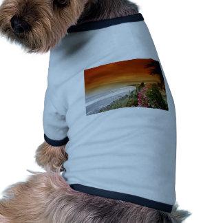 Red Sunset, San Miguel Point, Baja California, Mex Dog Tee Shirt
