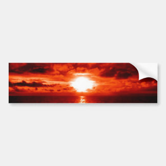 Red Sunset Seascape Bumper Sticker