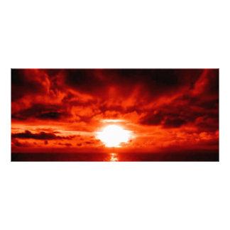 Red Sunset Seascape Custom Rack Card