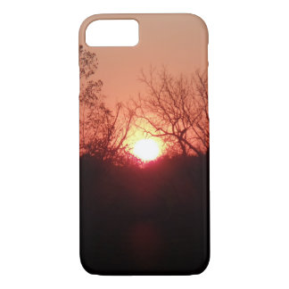 Red Sunset Silhouette iPhone 7 Case