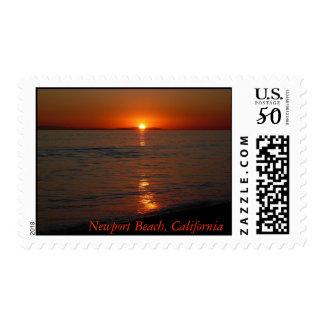 Red Sunset Stamp