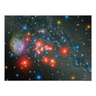 Red Super Giant Cluster Art Photo
