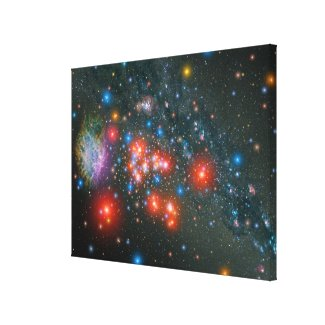 Red Super Giant Cluster Canvas Print