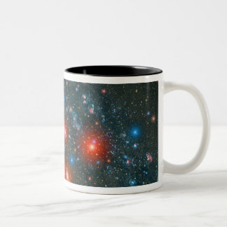 Red Super Giant Cluster Two-Tone Coffee Mug