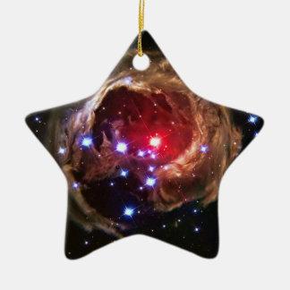 Red Supergiant Star V838 Monocerotis Ceramic Ornament