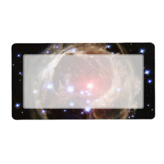 Red Supergiant Star V838 Monocerotis Label