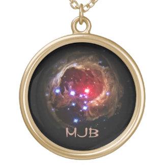 Red Supergiant Star V838 Monocerotis Round Pendant Necklace