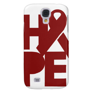 Red Support Ribbon Galaxy S4 Cover