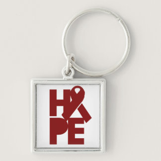 Red Support Ribbon Keychain