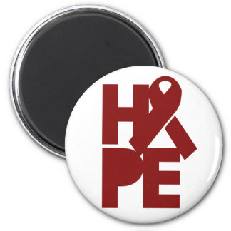 Red Support Ribbon Magnet