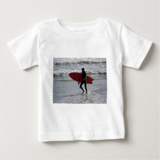 Red Surf Board Baby T-Shirt