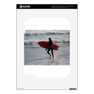 Red Surf Board Decal For iPad 3