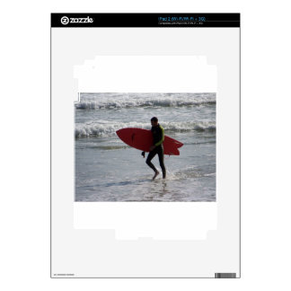 Red Surf Board Decal For The iPad 2