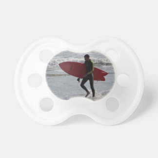 Red Surf Board Pacifier