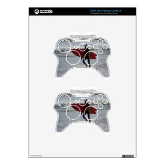 Red Surf Board Xbox 360 Controller Decal