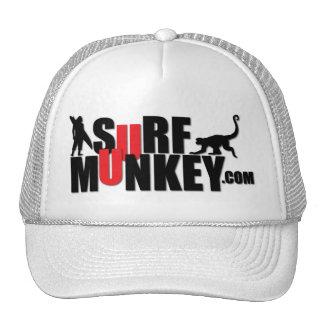 Red - Surf Munkey Billboard design Trucker Hat
