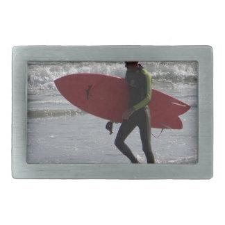 Red Surfboard Belt Buckle