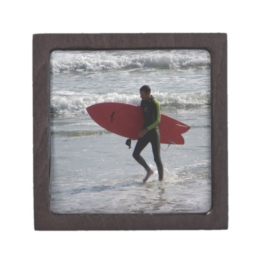 Red Surfboard Gift Box