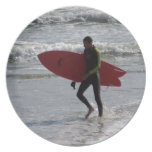 Red Surfboard Plates