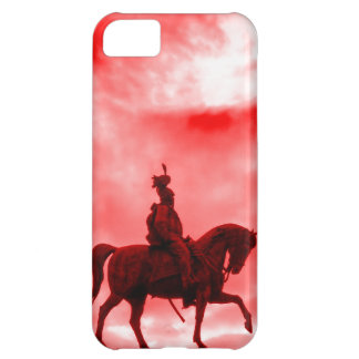 Red Surreal War Horse Ancient Roman Soldier Statue iPhone 5C Case