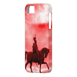 Red Surreal War Horse Ancient Roman Soldier Statue iPhone 5 Case