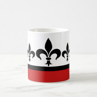 Red Swanky Fleur De Lis Mug