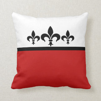 Red Swanky Fleur De Lis Pillow
