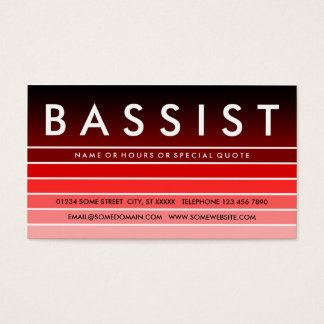 red swatch BASSIST Business Card