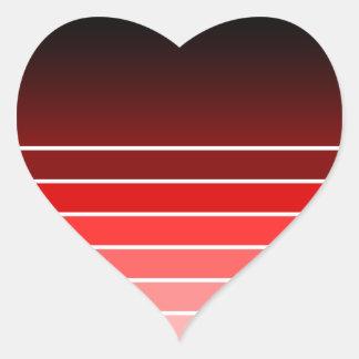 red swatch heart sticker