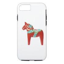 Red Swedish Dala Horse iPhone 7 Case